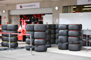 Pirelli tyres at the Ferrari garage