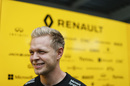 A smiling Kevin Magnussen during the interview