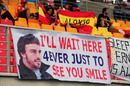 Fernando Alonso fans get their message across