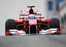 Fernando Alonso exits the pit lane