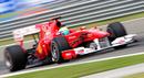 Felipe Massa on track