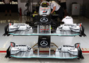 Mercedes front wings stacked up
