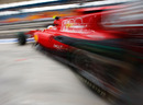 Fernando Alonso leaves the Ferrari garage