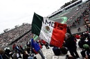 Fans and Mexican flag for Sergio Perez