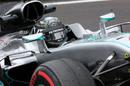 Nico Rosberg heads to track