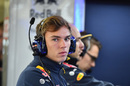 Pierre Gasly in the Red Bull garage