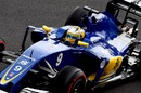 Marcus Ericsson works on his program