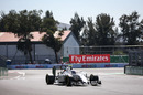 Valtteri Bottas on track in the Williams