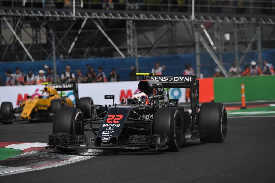 Jenson Button rounds a corner