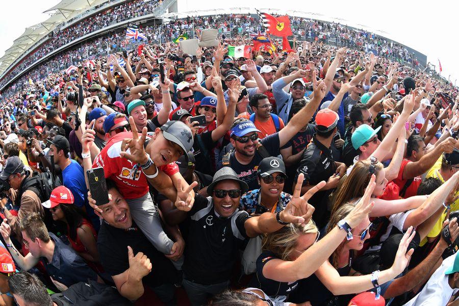 Fans at Austin