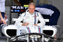 Valtteri Bottas sits in the cockpit on Thursday