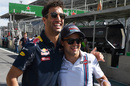 Daniel Ricciardo and Felipe Massa pose for a picture