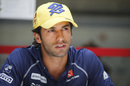 Felipe Nasr speaks to media