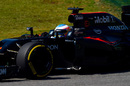 Fernando Alonso on track in the McLaren