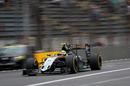 Sergio Perez throws up sparks