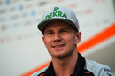 Nico Hulkenberg speaks to media