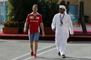 Sebastian Vettel at the paddock