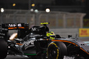 Sergio Perez puts on soft tyres