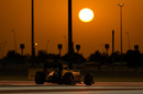 Jolyon Palmer on track during the sunset