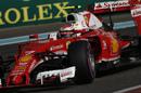 Kimi Raikkonen approaches a corner