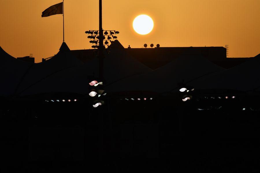 Sunset at Yas Marina Circuit