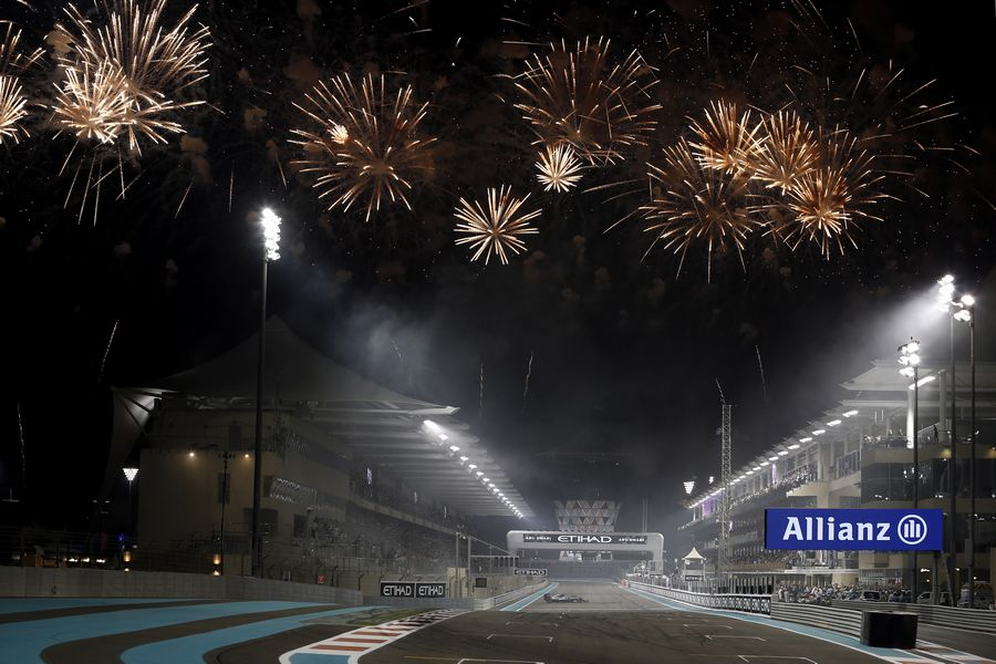 Fireworks at the end of the race