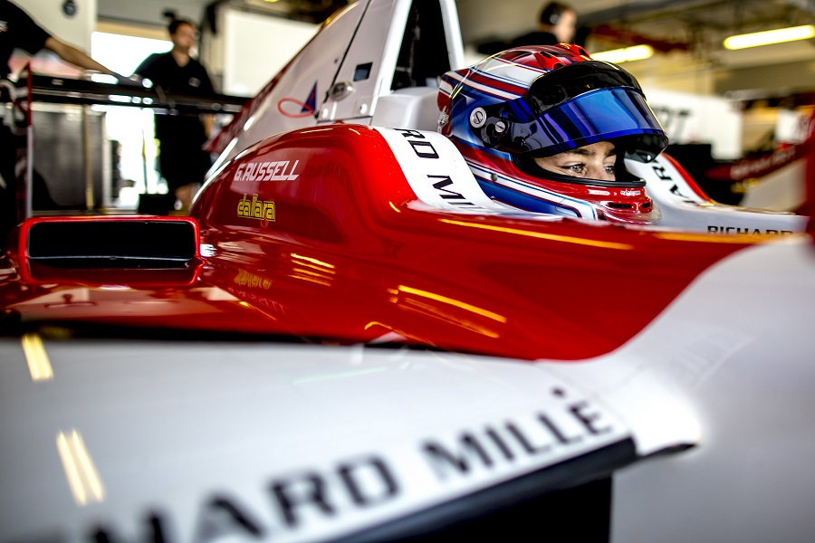 George Russell tests the GP3