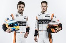 Fernando Alonso and Stoffel Vandoorne with the new McLaren overall
