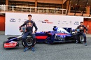 Daniil Kvyat and Carlos Sainz at the launch of Scuderia Toro Rosso STR12