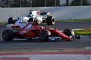 Sebastian Vettel on track in the Ferrari