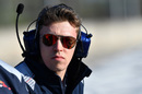 Daniil Kvyat watches the test session