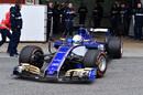 Antonio Giovinazzi leaves the garage for his run