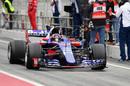 Daniil Kvyat in the Toro Rosso STR12