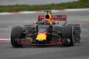 Max Verstappen in the Red Bull with aero sensor