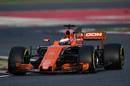 Stoffel Vandoorne on track in the McLaren