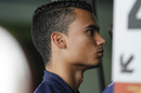 Pascal Wehrlein watches the test session