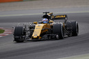 Jolyon Palmer on track in the Renault R.S.17 with aero sensor