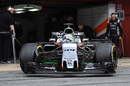 Alfonso Celis leaves the Force India garage