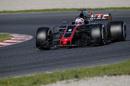 Romain Grosjean on track in the Haas VF-17