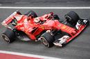 Sebastian Vettel in the Ferrari SF70-H
