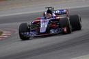 Daniil Kvyat on track in the STR12