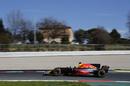 Daniel Ricciardo works hard on his test program