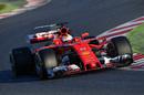 Sebastian Vettel approaches the corner