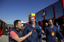 Ross Brawn talks with media in the paddock