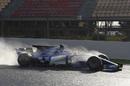 Antonio Giovinazzi on track in the Sauber C36