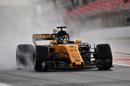 Nico Hulkenberg on a wet tyre run