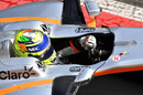 Sergio Perez in the Force India VJM10