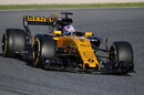 Jolyon Palmer on track in the Renault R.S.17
