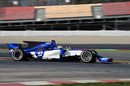 Marcus Ericsson at speed in the Sauber