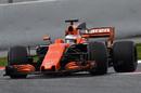 Fernando Alonso guides the McLaren through a corner